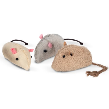 Paws & Pals Interactive Cat Toy Best for Cats and Kitten- Mouse Toys, Pack of