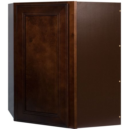 Everyday cabinets 27 inch cherry mahogany brown leo saddle - 26 inch kitchen cabinet ...