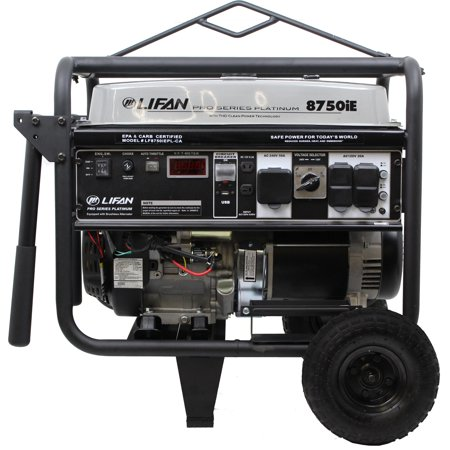 Lifan Pro-Series Platinum Premium LF8750iEPLRV-CA (California Sales Compliant) with Total Harmonic Distorion (THD), Clean Power Alternator, Rental/Contractor, OSHA Compliant Portable Generator