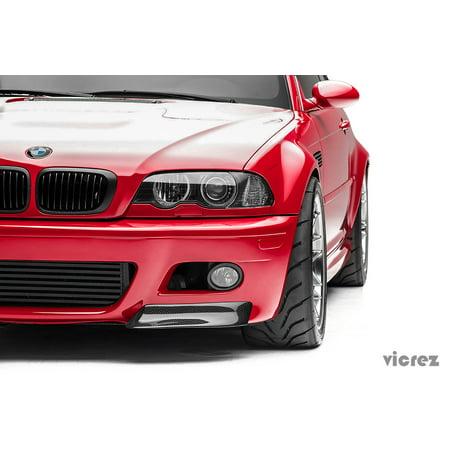 Front Lip Seibon Carbon - Vicrez BMW M3 E46 2000-2006 VZ5 Carbon Fiber Front Bumper Lip Splitters - vz100421