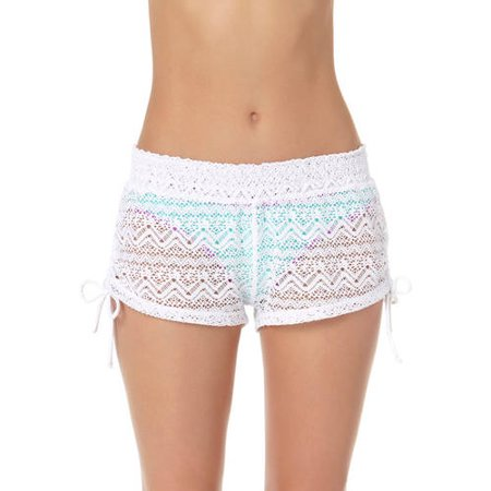 23d8cb5ce148b No Boundaries - Juniors Crochet Boardshort Swim Cover-Up - Walmart.com