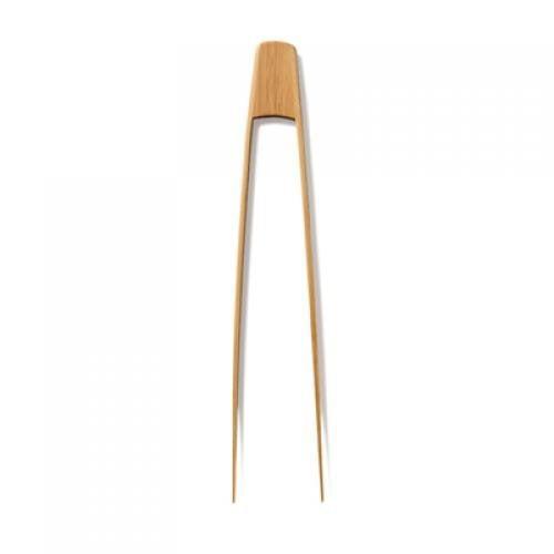 Bambu 1201359 12'' Large Certified Organically Grown Bamboo Tongs - Natural