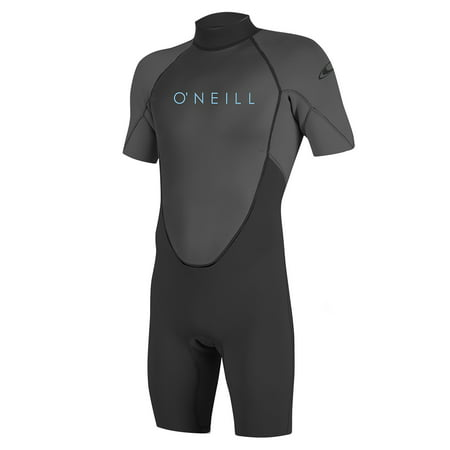 O'NEILL YOUTH REACTOR-2 2MM BACK ZIP S/S SPRING WETSUIT, Black/Graphite, Size 10