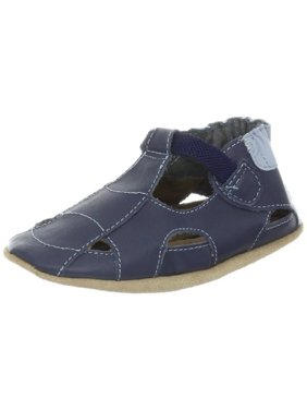 013279874 Product Image Robeez Fisherman Soft Sole Sandal (Infant),Navy,0-6 Months M