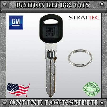 GM: New Ignition Key B82 P7 For GM Buick Oldsmobile VATS PASS System Black Resistor Key #7 w/ GM Logo