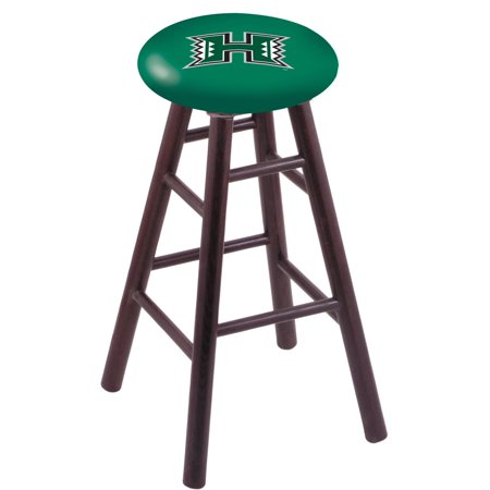 Oak Bar Stool in Dark Cherry Finish with Hawaii Seat by the Holland Bar Stool Co. ()