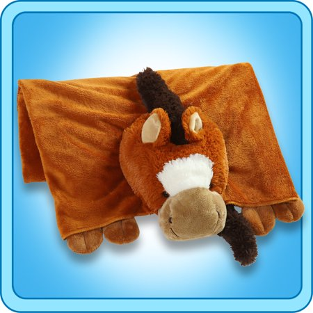 Authentic Pillow Pet Sir Horse Blanket Plush Toy Gift ()
