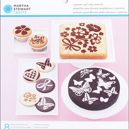 Martha Stewart Crafts Vintage Girl Cake And Cupcake Stencils