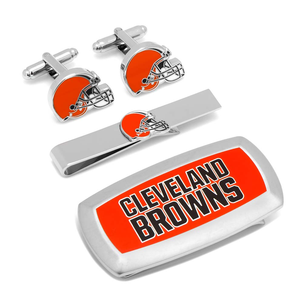 Cleveland Browns 3-Piece Cushion Gift Set - Orange - No Size
