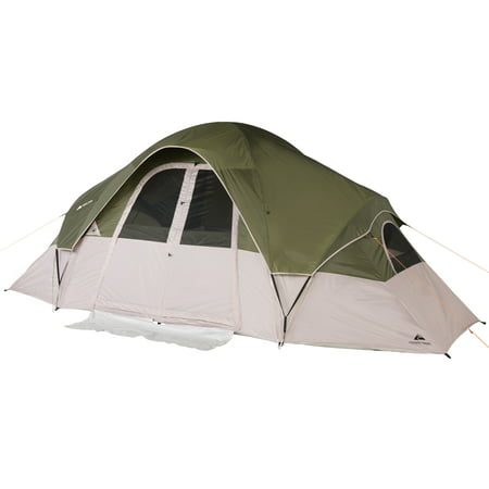 Ozark Trail 8-Person 2-Room Modified Dome Tent with Roll-back Fly (8 Person 2 Room)