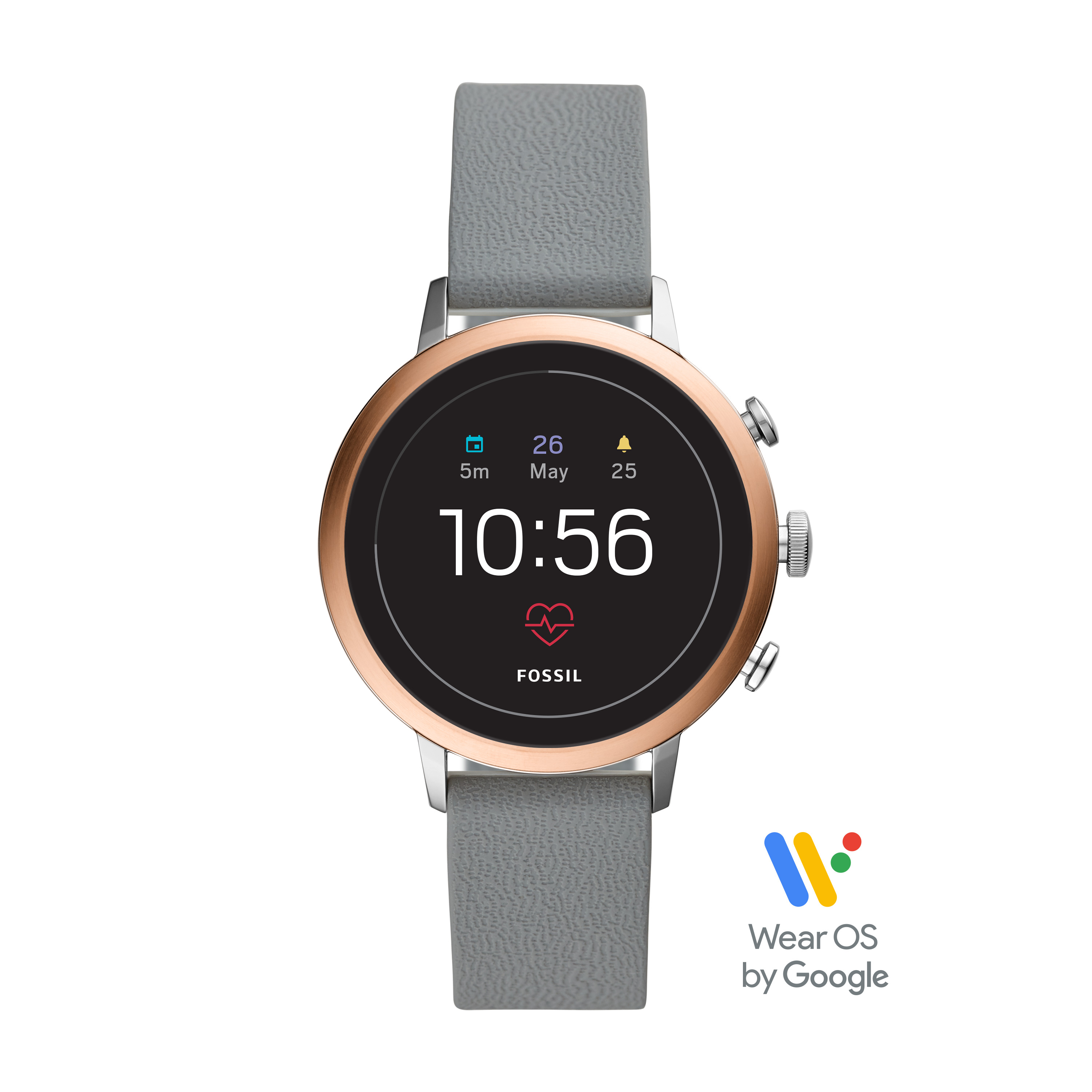 Fossil Gen 4 Venture HR Women's Smartwatch - Gray Silicone - Powered with Wear OS by Google
