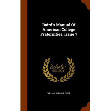 Baird's Manual of American College Fraternities, Issue 7