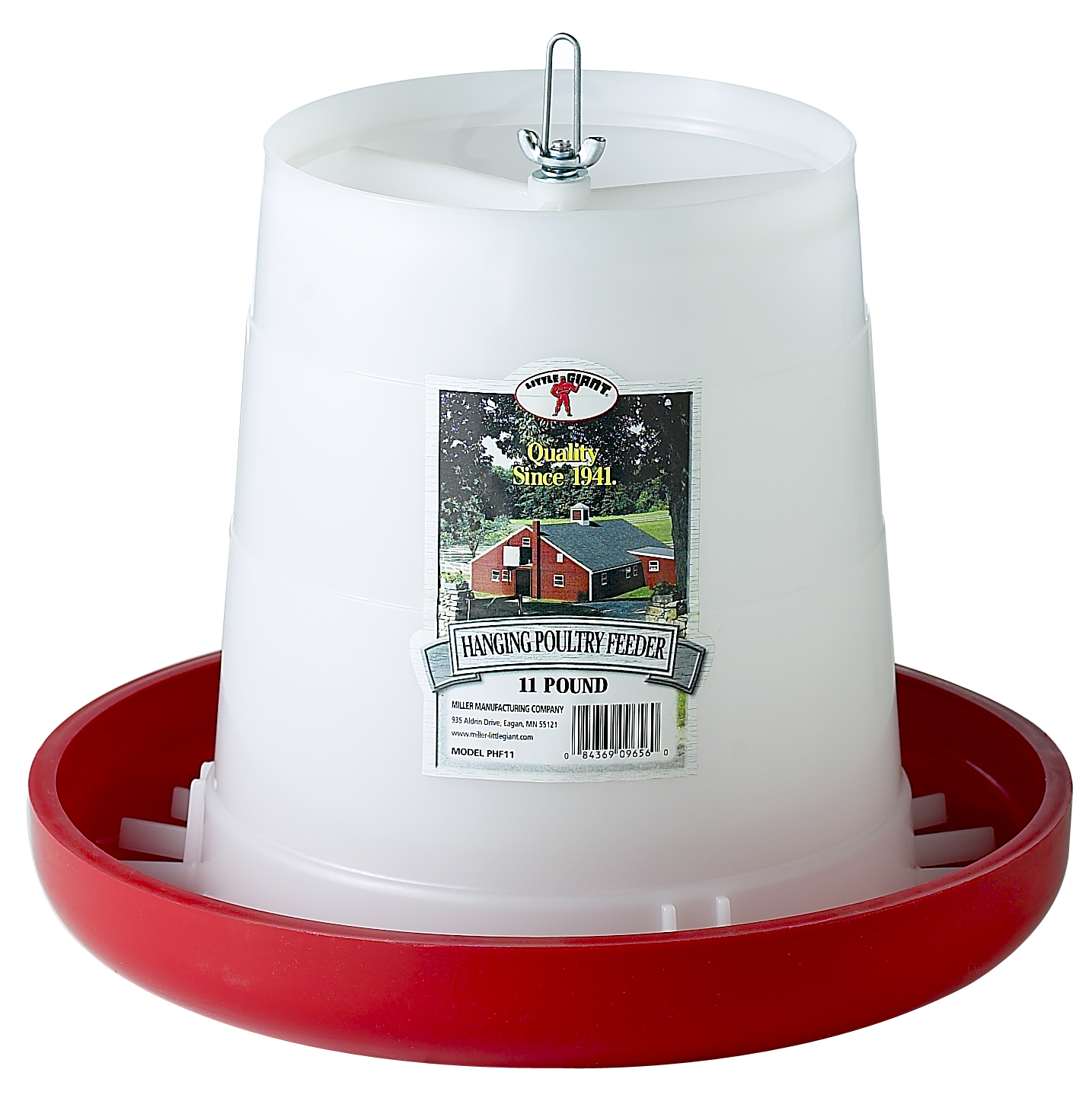Miller Manufacturing Plastic Hanging Poultry Feeder, 11 Lbs