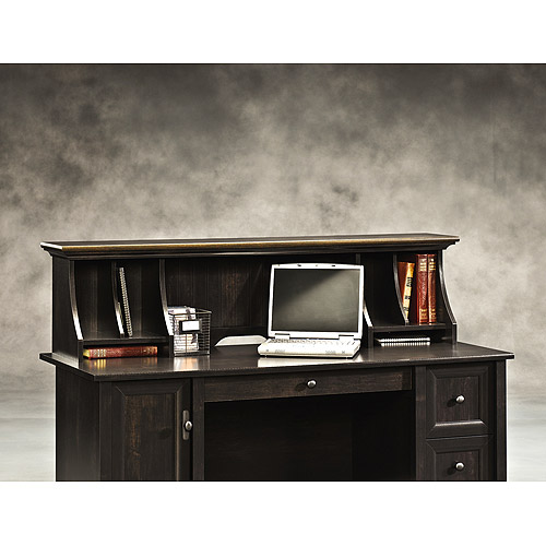 Sauder Edge Water Organizer Hutch, Estate Black