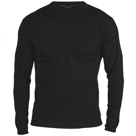 MERIWOOL Men's Merino Wool Midweight Baselayer Crew - X-Small -