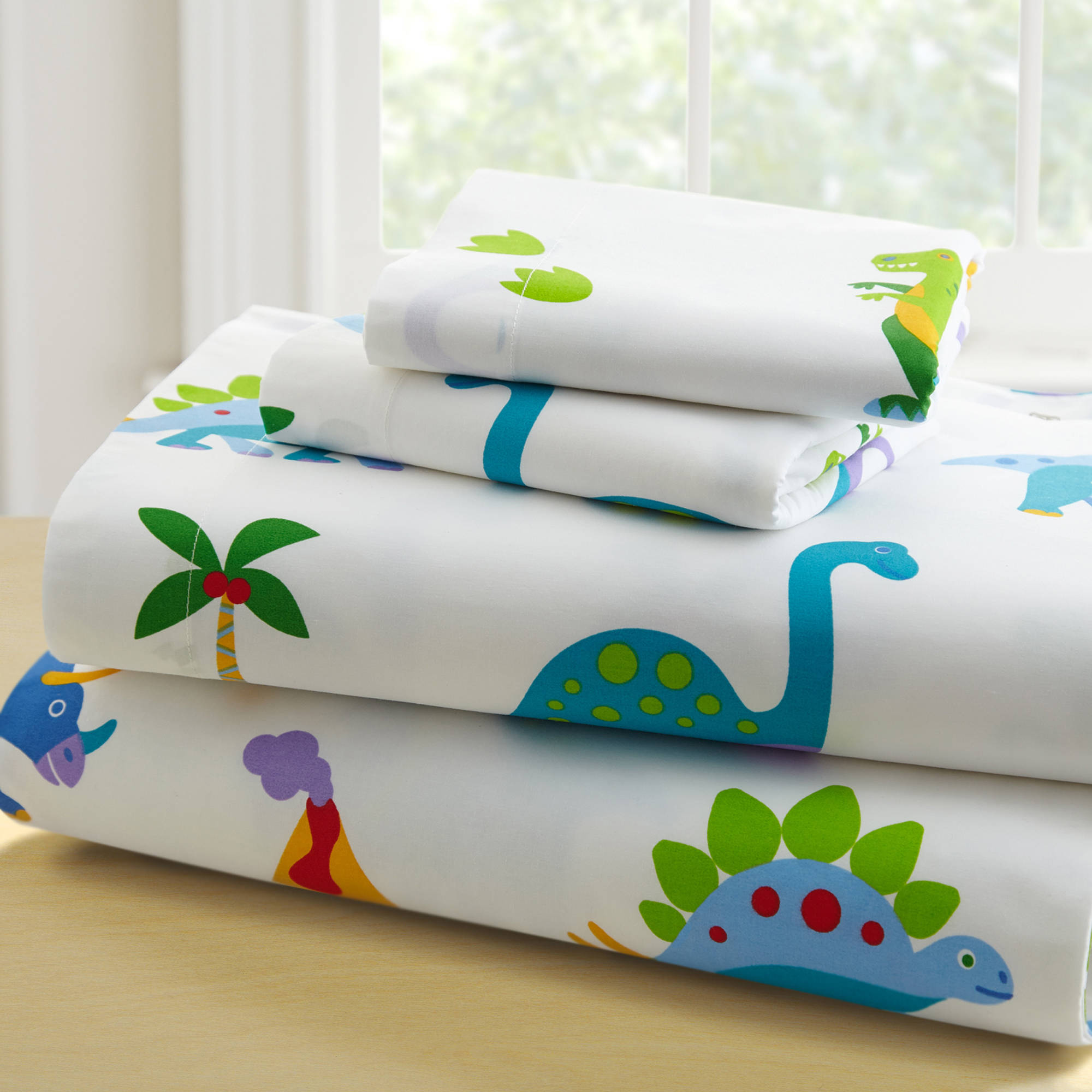 Olive Kids Dinosaur Land Toddler Bedding Sheet Set Walmart
