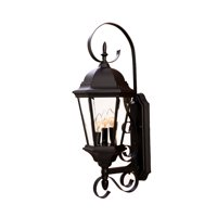 "Acclaim Lighting 5413 Matte Black New Orleans 3 Light 25"" Height Outdoor Wall Sconce"