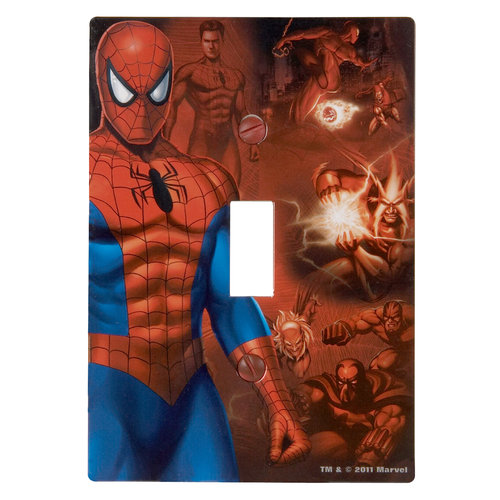 Marvel Spider-Man Wallplate, Toggle