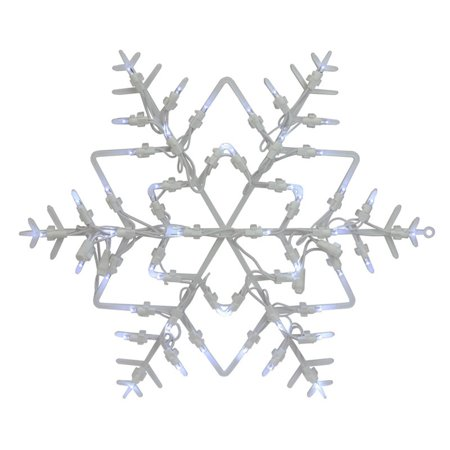 Northlight 18 in. LED Snowflake Christmas Window Silhouette Decoration