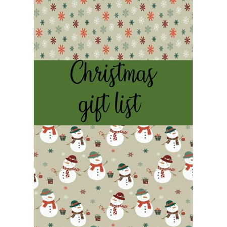 Christmas Gift List : Notebook to Make Your Christmas List: Gifts You Are Going to Purchase for Everyone: 7
