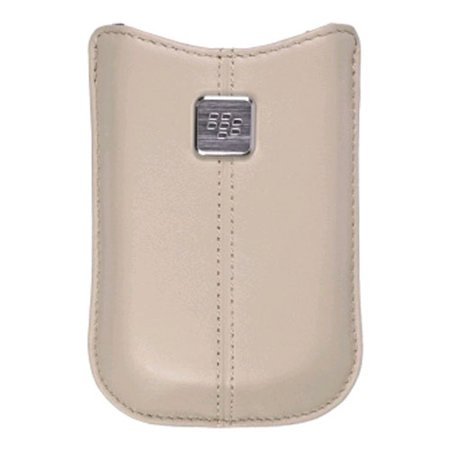 - OEM BlackBerry Pearl Flip 8220 Kickstart Leather Pocket Case (Oyster)