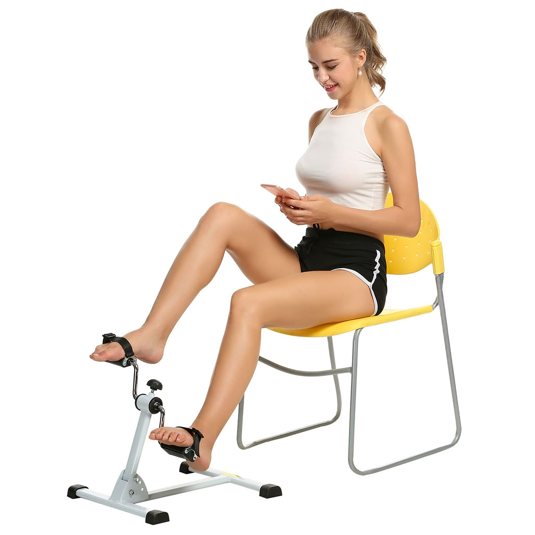 Ancheer Fitness Upper & Lower Body Cycle,Adjustable Pedal Exerciser Peddler For Arm Leg