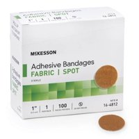 Adhesive Spot Bandage Medi-Pak Performance Fabric 1 Inch Diameter Round Beige