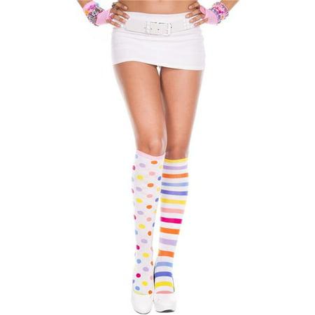 Clown Acrylic Knee High Socks, - Clown Socks