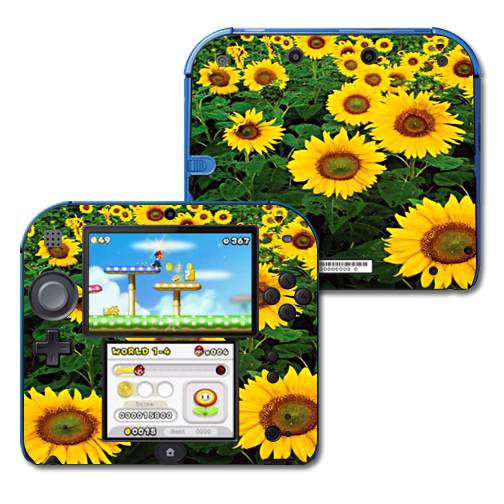 Mightyskins Protective Vinyl Skin Decal Cover for Nintendo 2DS wrap sticker skins Sunflowers