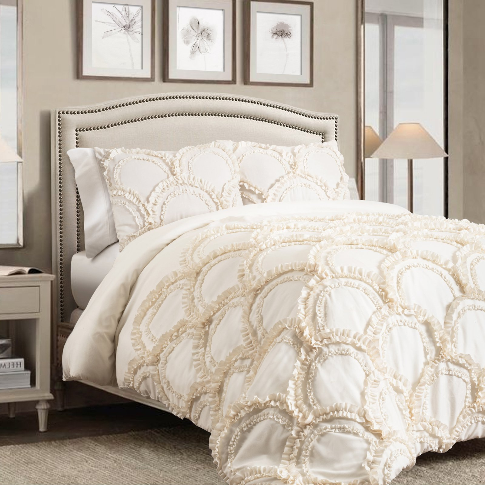Chic 3-Piece Comforter Set by Lush Decor