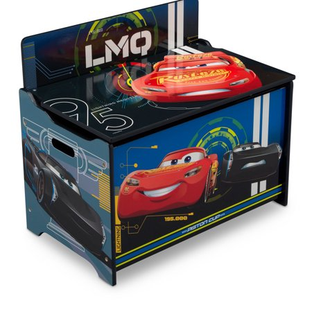 Disney Pixar Cars Deluxe Wood Toy Box by Delta Children](Toys Storage Box)