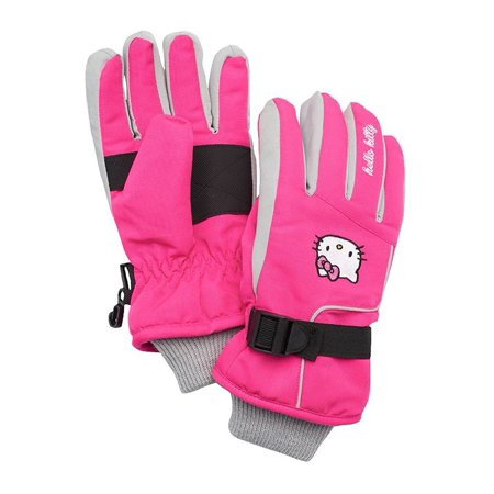 52934e670 Hello Kitty - Hello Kitty Little Girl Pink Ski Gloves One Size 4-16 -  Walmart.com