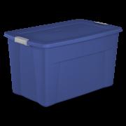 Sterilite 35 Gal. Latch Tote Stadium Blue Case of 4