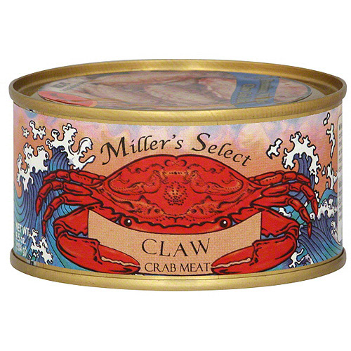 Miller's Select Claw Crab Meat, 6.5 oz (Pack of 12)