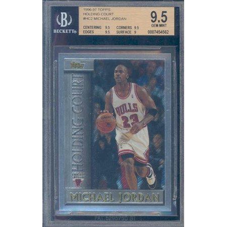 1996 97 Topps Holding Court  Hc2 Michael Jordan Bgs 9 5