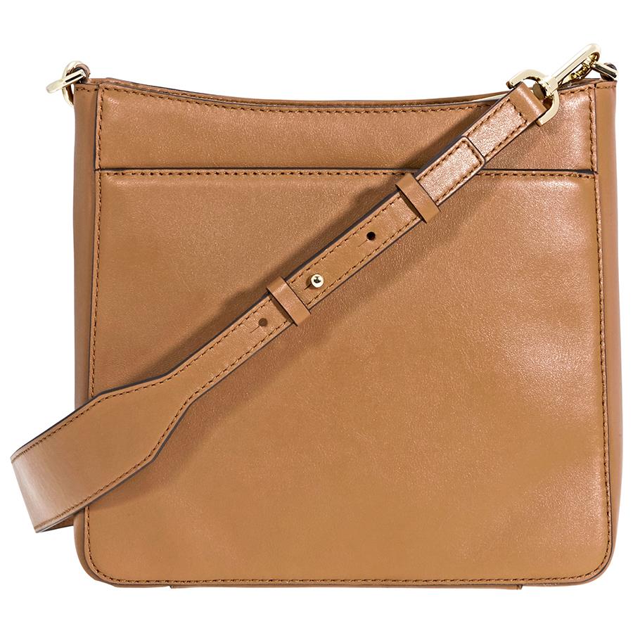4c2e85159334 Michael Kors Gloria Leather Messenger Bag- Acorn - Walmart.com