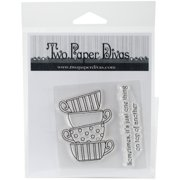 """Two Paper Divas Clear Stamps 6""""X4.5""""-Teacups"""