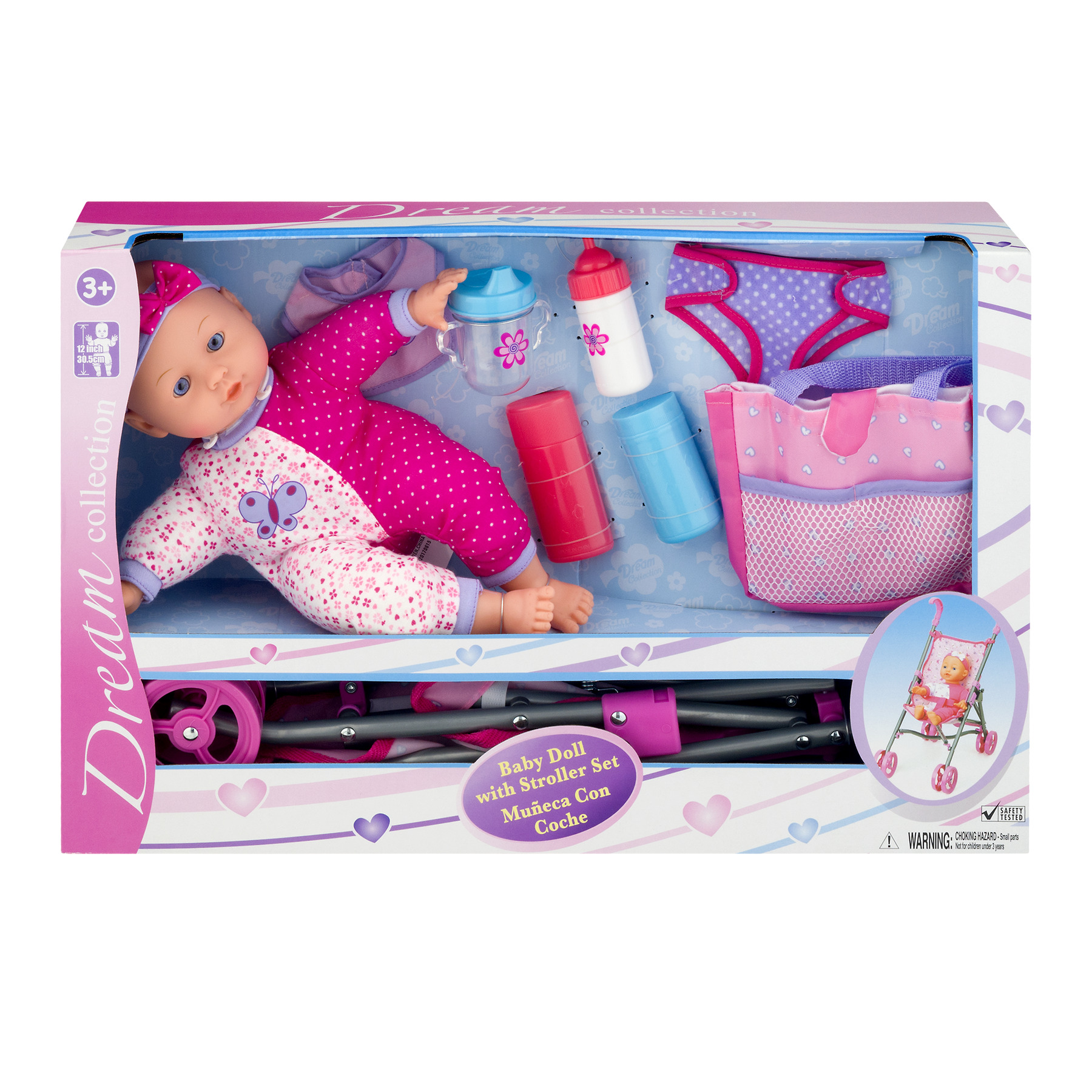 Dream Collection Baby Doll with Stroller Set, 1.0 PACKAGE by Gi-Go Toys Factory Ltd.