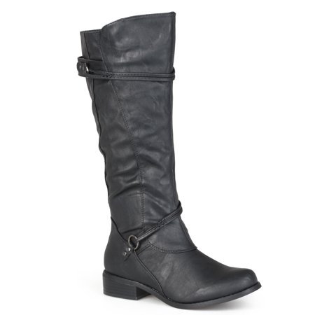 Women's Buckle Accent Tall Boots Big And Tall Boots