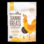 Full Moon All Natural Human Grade Dog Training Treats, Chicken, 6 Oz.