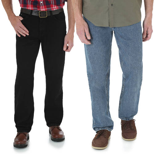 Wrangler - Big Men's Relaxed Fit Jeans, 2 Pack