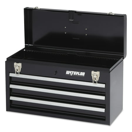 - Waterloo Portable Chests, 20.535 in x 8.56 in x 9.56 in, 1,275 cu in, Black