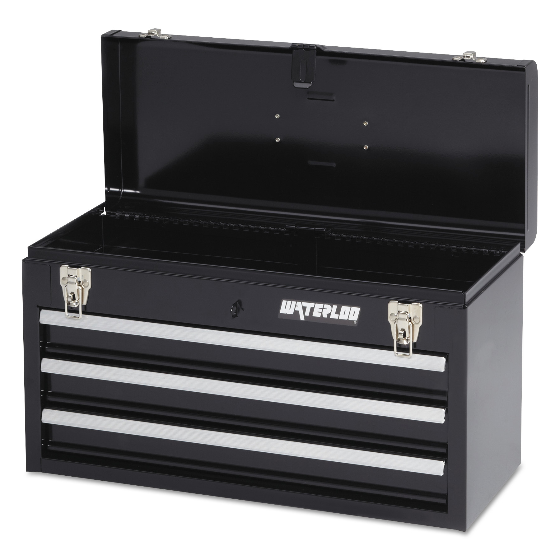 Waterloo Portable Chests, 20.535 in x 8.56 in x 9.56 in, 1,275 cu in, Black