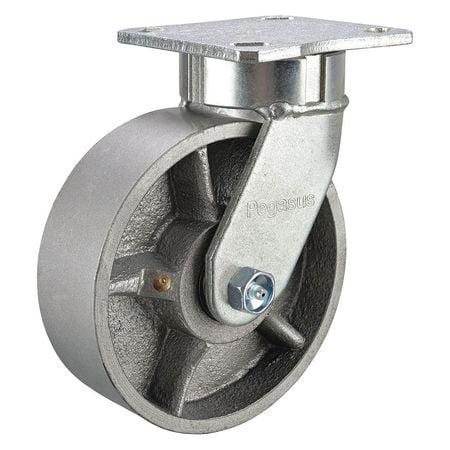 GRAINGER APPROVED Kingpinless Swivel Caster,Ductile Iron,10in,4100lb, 310FR10501SG