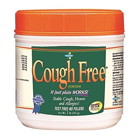 Cough Free Powder for Horses, 1 lb, Attacks the causes of coughs and congestion and helps horses fight off colds, allergies and heave-related symptoms By