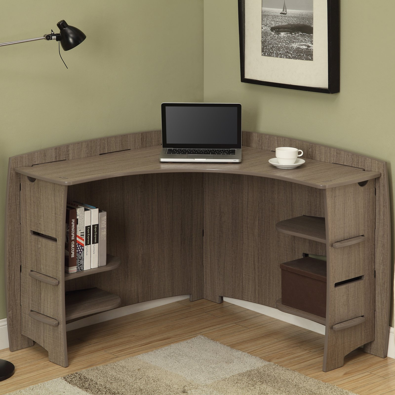 Legare Furniture, No Tools Assembly 47 Inch By 47 Inch Corner Desk,