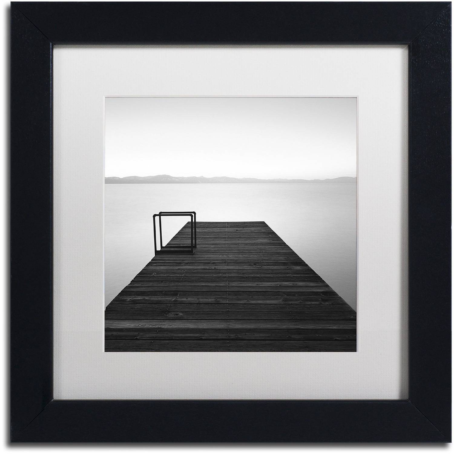 "Trademark Fine Art ""Cube"" Canvas Art by Moises Levy White Matte, Black Frame"