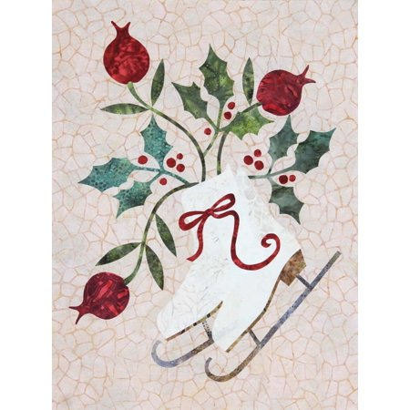 Fusible Applique Quilt Pattern (Seasonal Silhouettes Block 1 Laser Cut Fusible Applique Kit With Background, Sewing Kit )