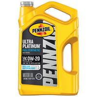 Pennzoil Ultra Platinum 0W-20 Full Synthetic Motor Oil, 5 Quart