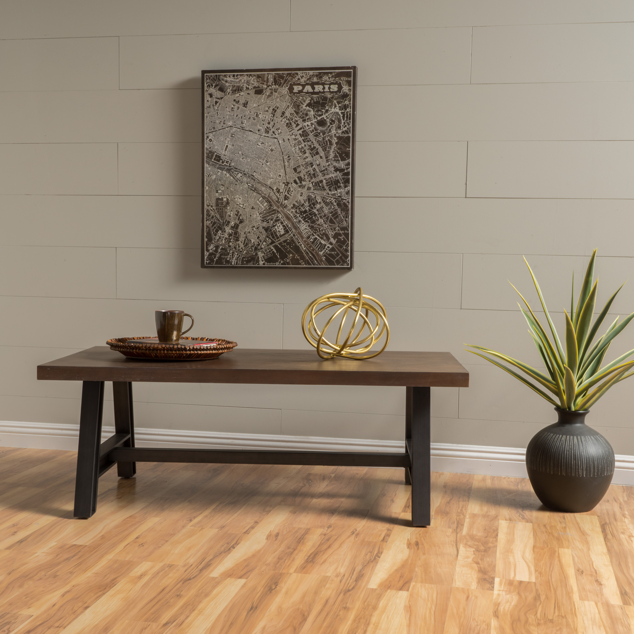 Noble House Wood Coffee Table,Rustic